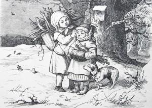 ludwig-richter-bilder-weine-nicht-helmchen-kinder-im-schnee