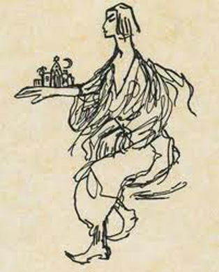Else Lasker Schüler als Jussuf, der Prinz von Theben